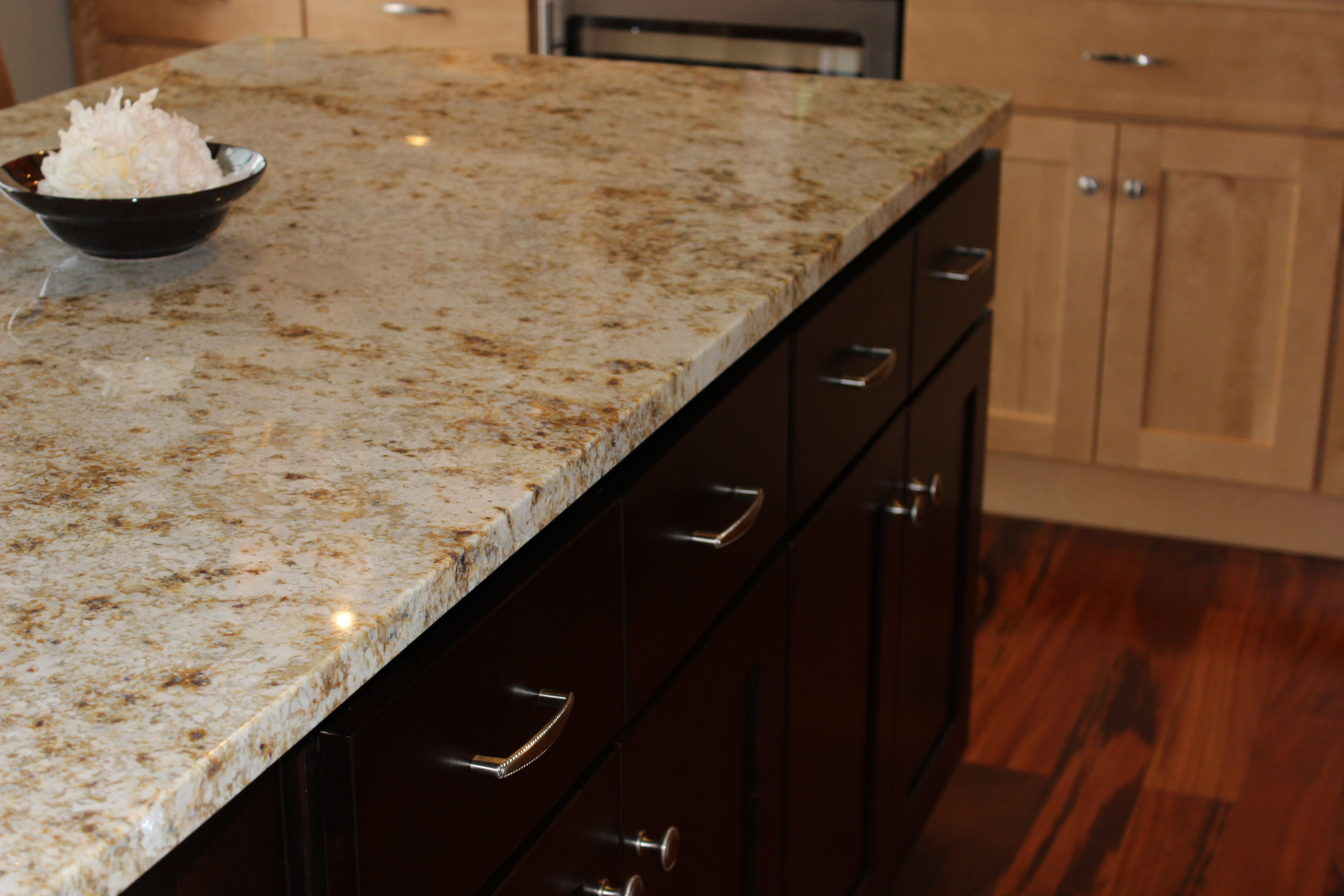 "Colonial Gold granite. Most of the granite with ""Gold"" at"