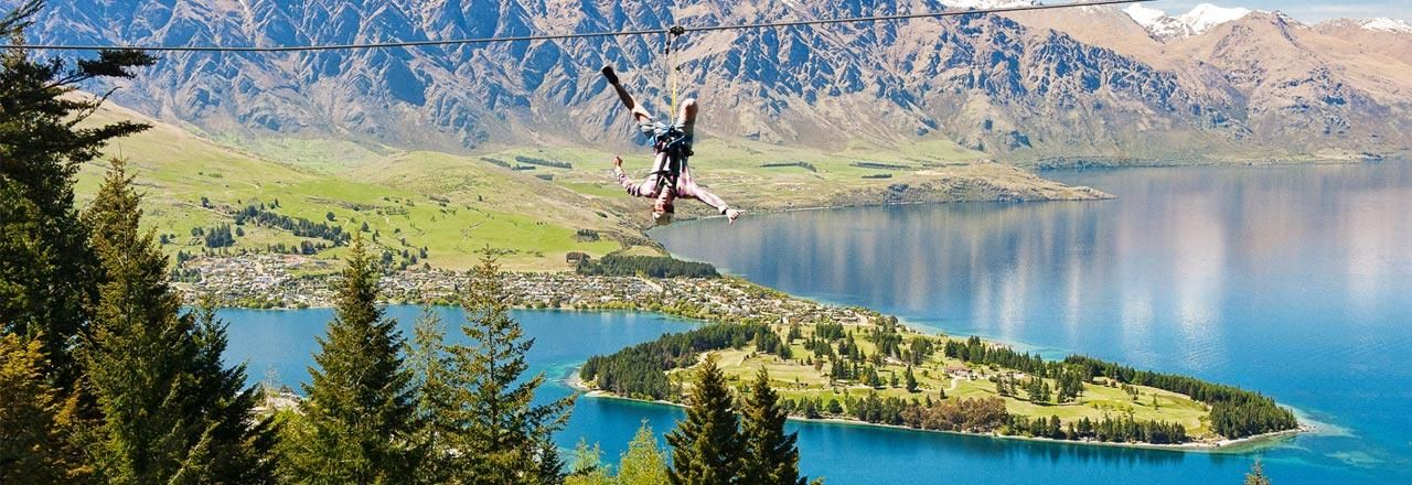 New Zealand - Zip lining in Queenstown offers adventurous fun for the whole family