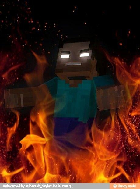 Minecraft herobrine fondo de pantalla