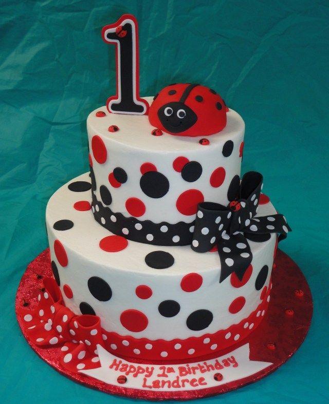 Amazing 24 Inspired Image Of Ladybug 1St Birthday Cake Ladybug 1St Funny Birthday Cards Online Kookostrdamsfinfo