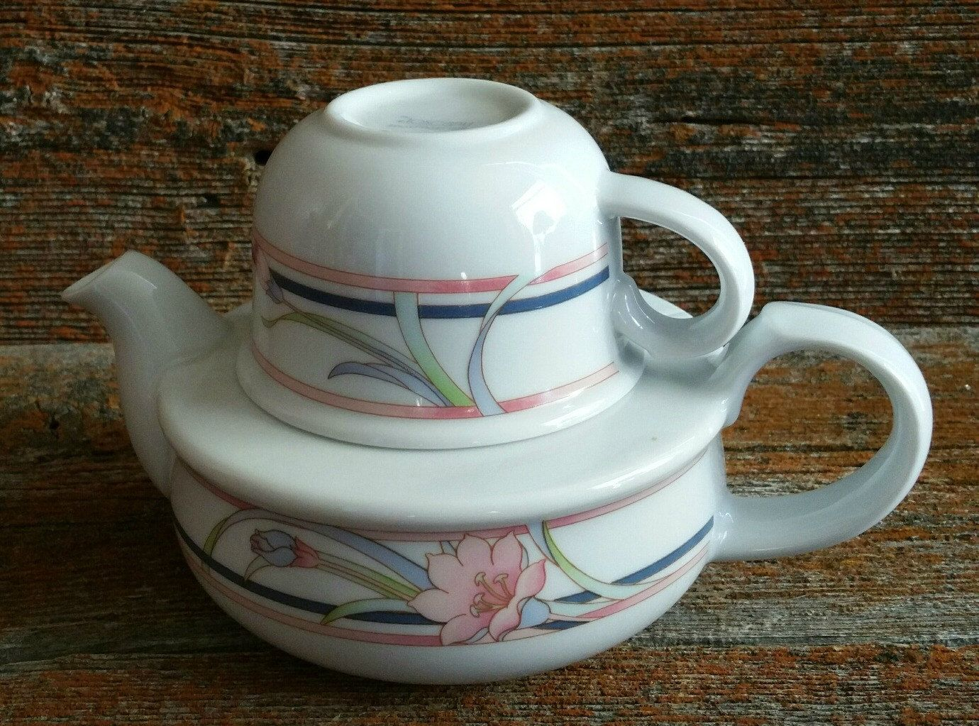 Vintage Toscany Teapot For One Ceramic Teapot And Cup