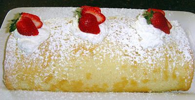 Strawberry Shortcake Roll - Food Folks and Fun