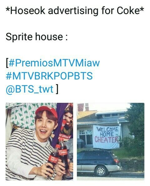 Bts Jhope Sprite Cocacola Image By Jeon Jungkook