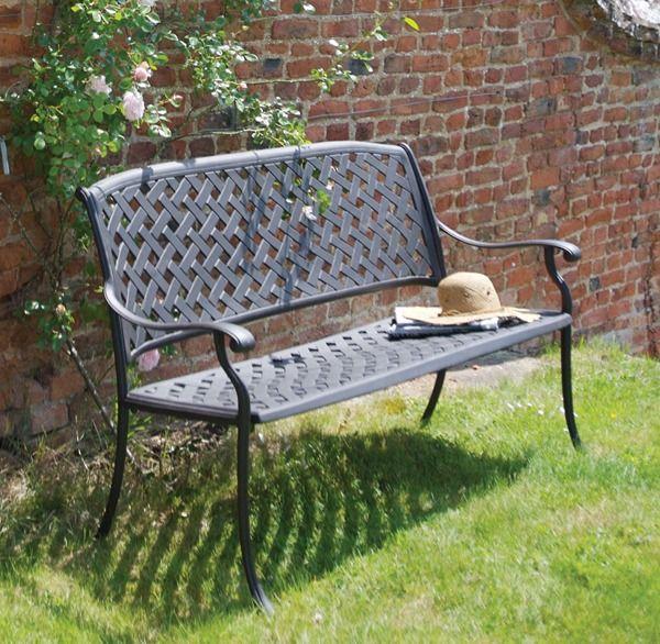 aluminum garden bench   Bramblecrest Rimini Cast Aluminium Garden ...