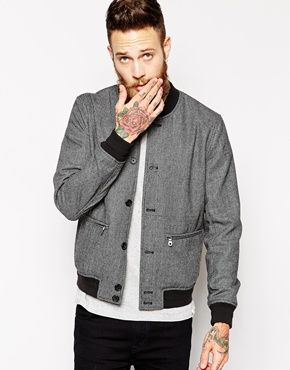 Enlarge ASOS Bomber Jacket In Puppytooth | For the Fellas ...