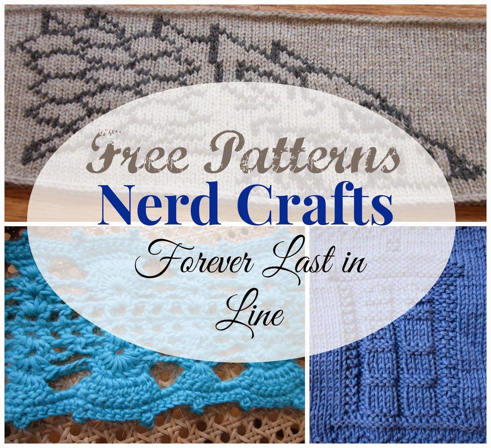 Forever Last In Line: Free Patterns: Nerd Crafts   Crochet Ideas ...