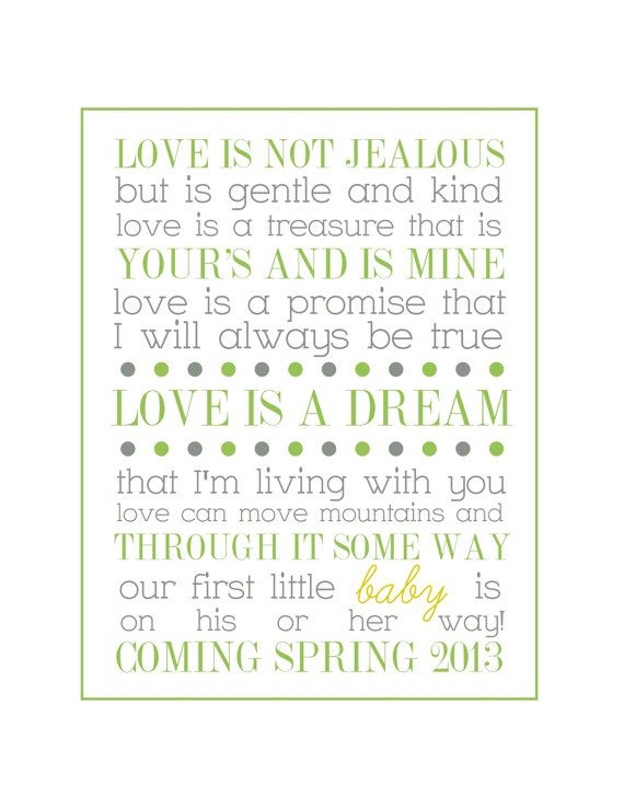 Printable Pregnancy Announcement Poem Future Family 3 Pinterest