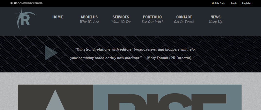 Rise Website Mockup Web Design Mockup Web Design Studio Web Design