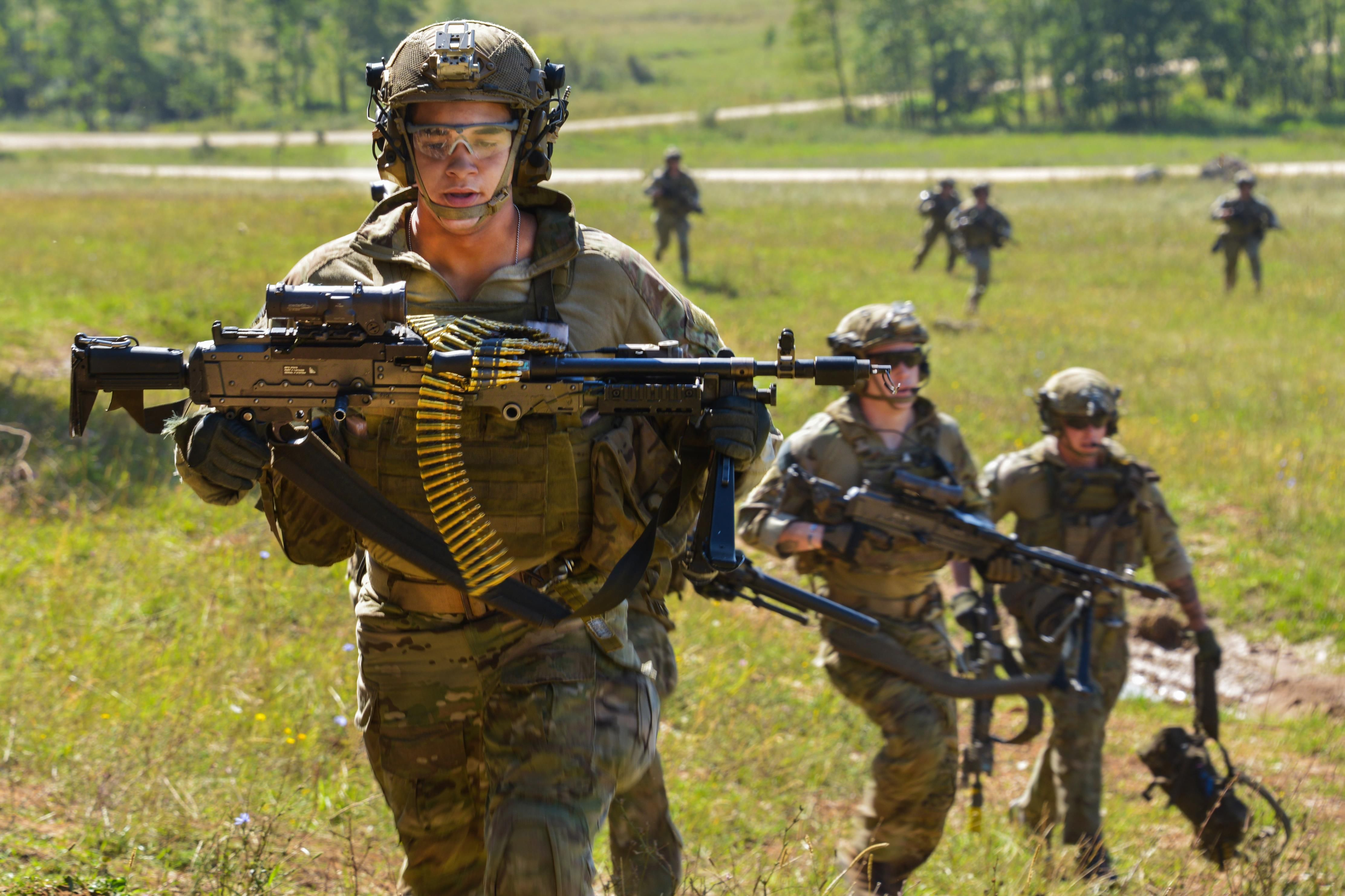 u s soldiers with the 75th ranger regiment conduct a training raid