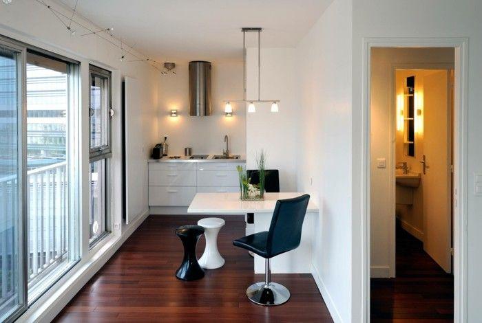 küchenideen kleiner raum weiß schwarz | küche möbel - küchen ... - Küche Kleiner Raum