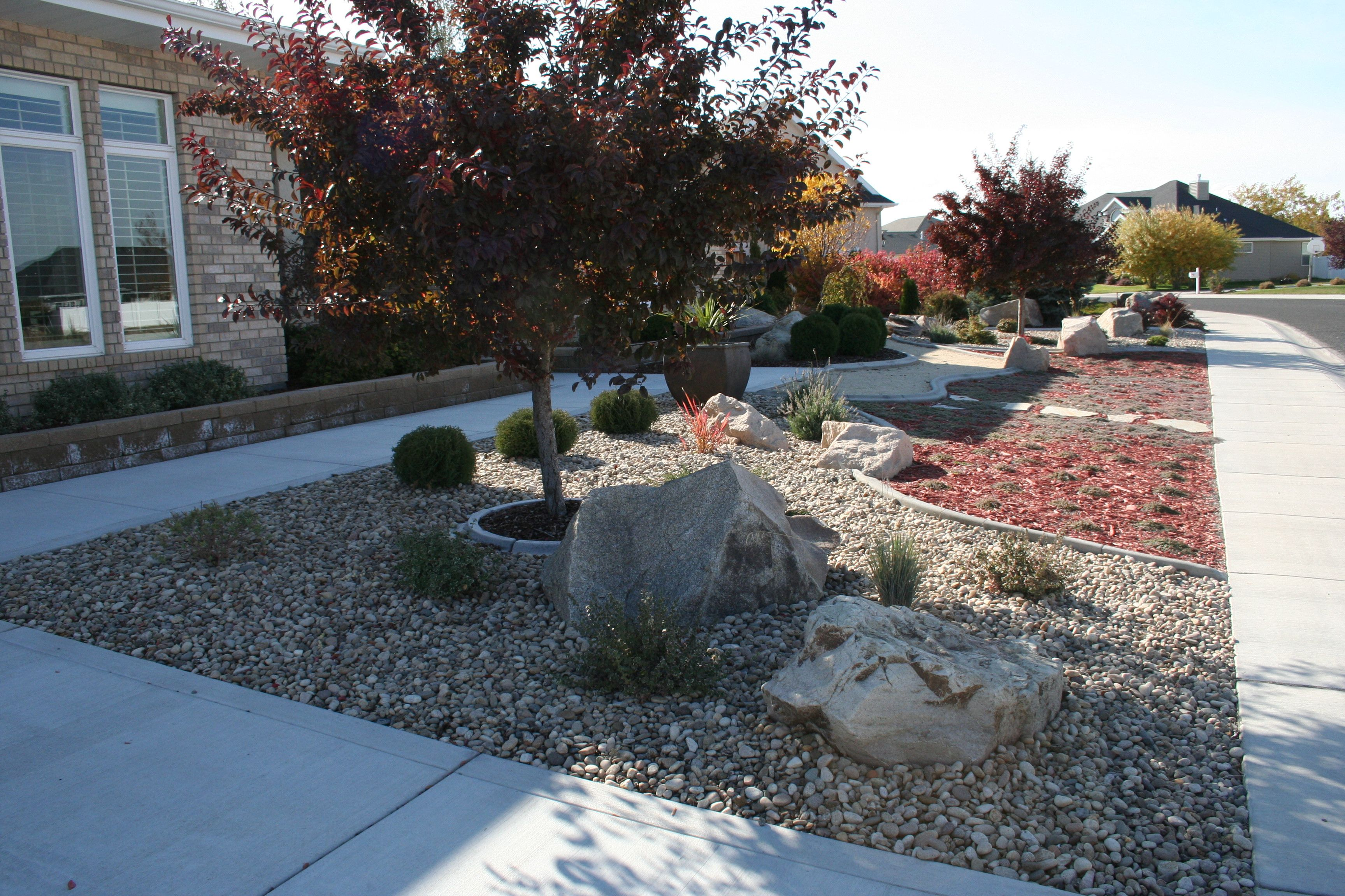 No Grass Landscaping | Low maintenance landscaping front ... on Backyard Landscaping Ideas No Grass id=99238