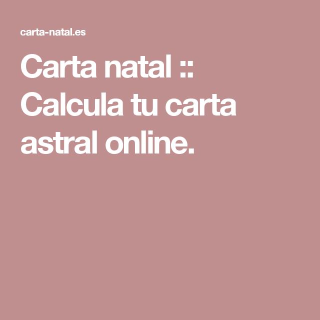 Carta natal :: Calcula tu carta astral online. astro.
