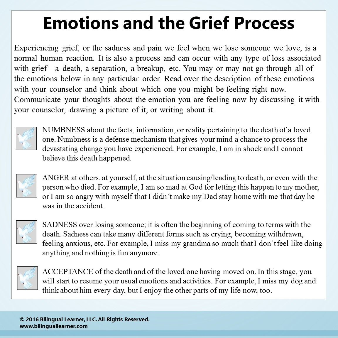 More Grief Resources At Bilinguallearner