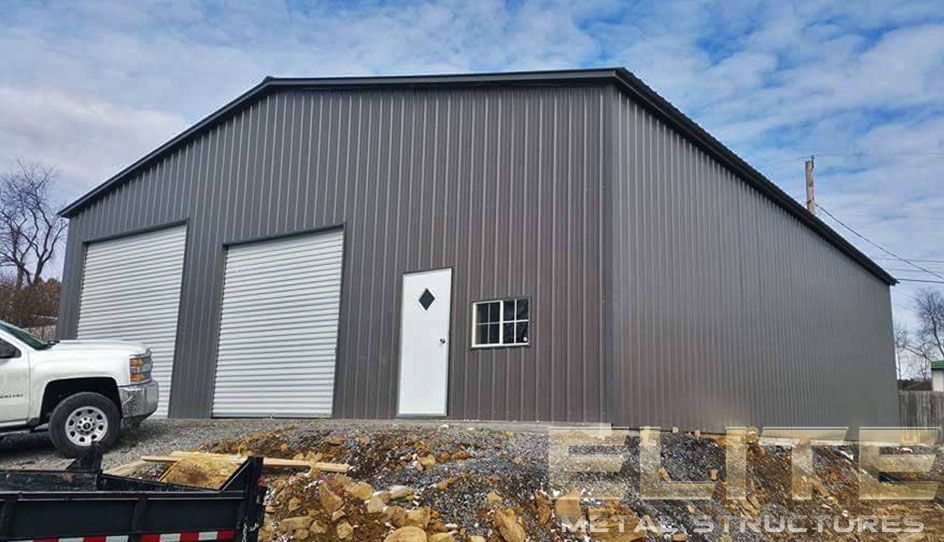14 24'Wx26'Lx9'H Garage Vertical Roof Commercial steel