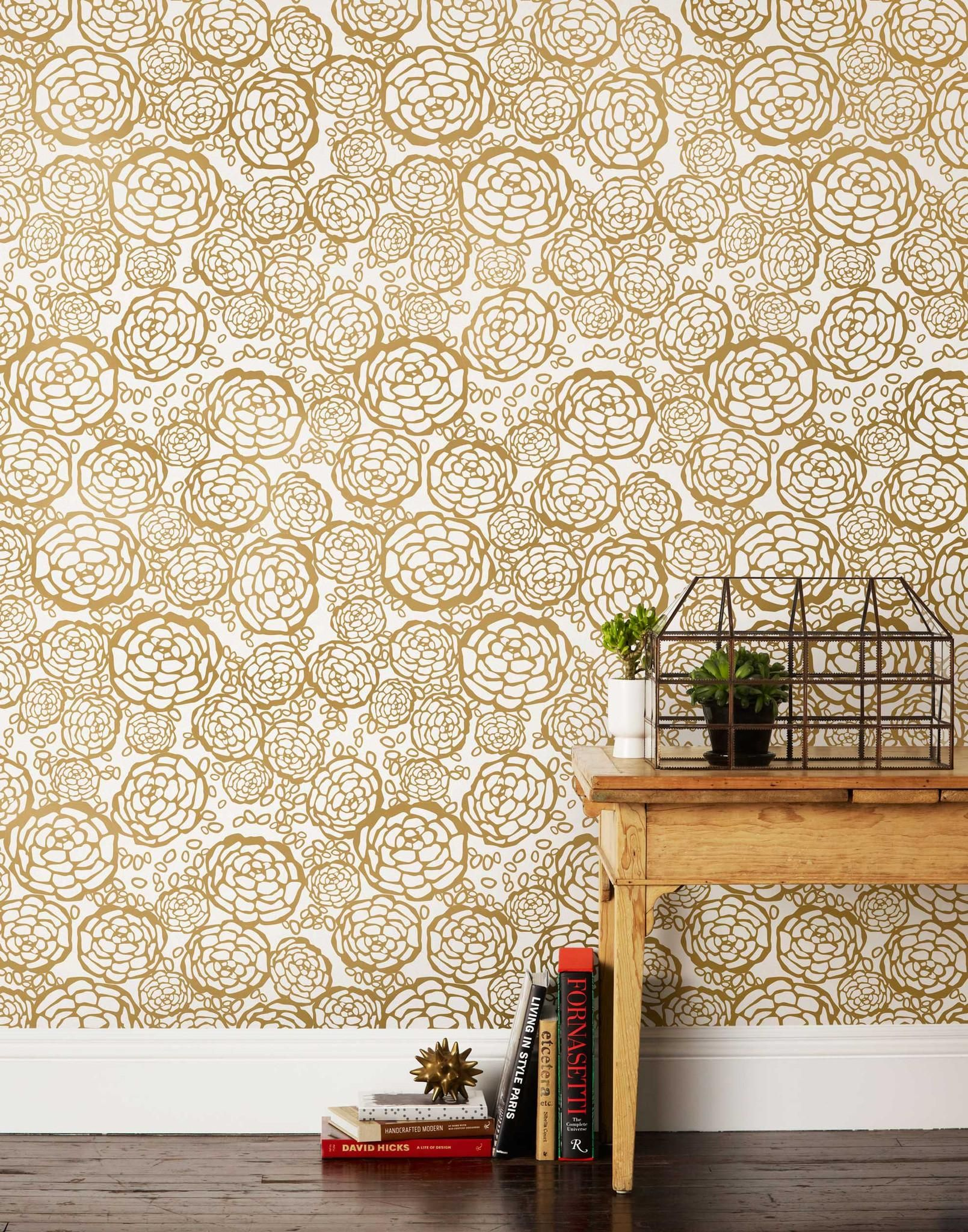 Our Luxe, Modern Wallpapers Are Screen Printed By Hand Details