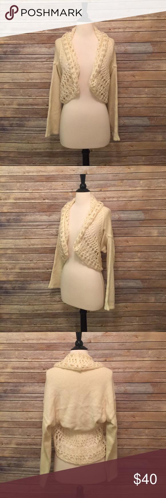 Anthropologie Sleeping on Snow Shrug Sweater