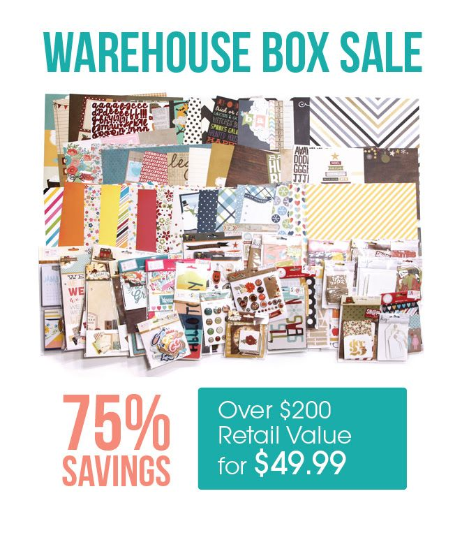 Warehouse Box Sale Simple Stories Scrapbook Obsession Scrapbook