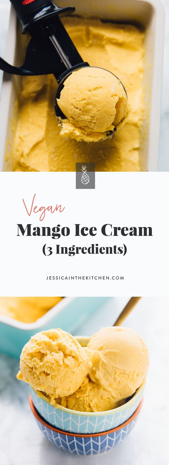 Vegan Mango Ice Cream (3 Ingredients) #ketoicecream