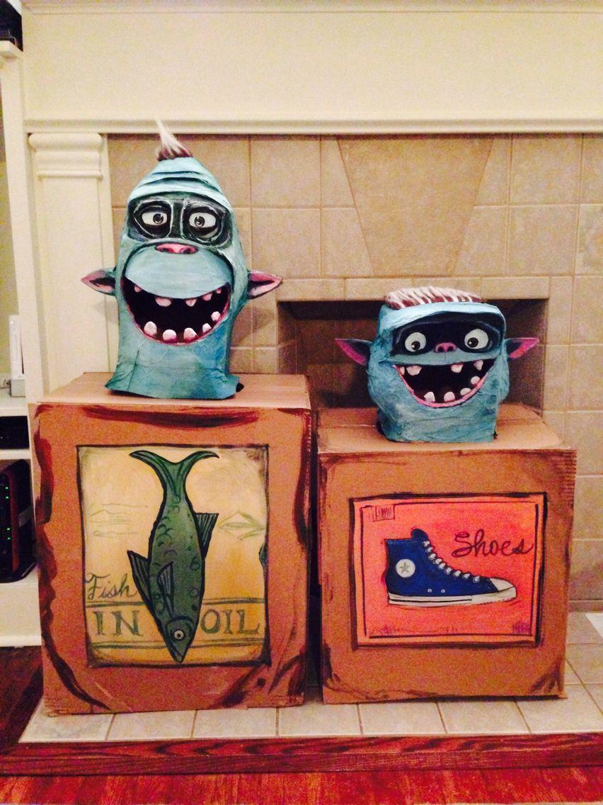 Box Troll Costume Contest - how to create boxtroll mask ...