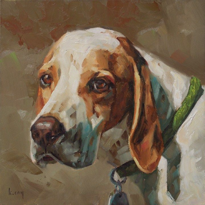 """Pointer"" original fine art by Kathleen Coy"