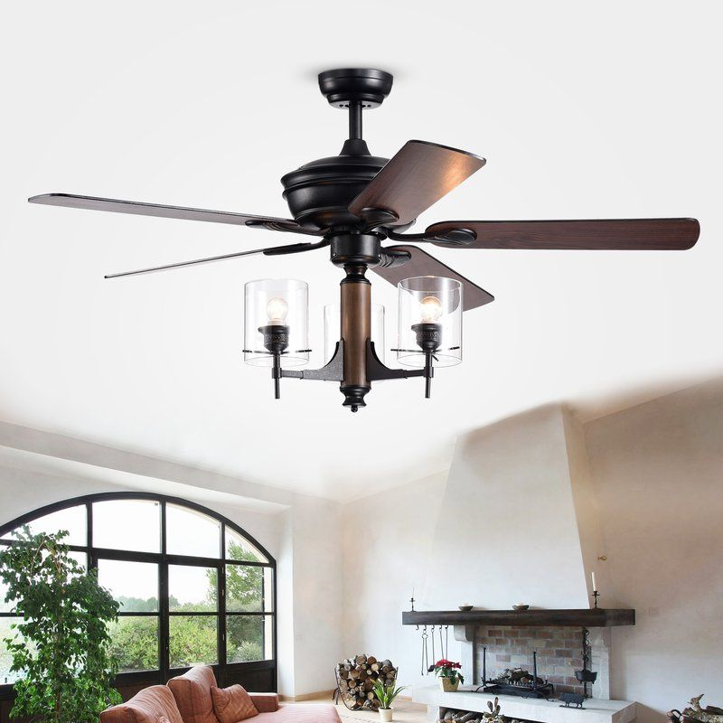 52 Poirier 5 Blade Ceiling Fan With Remote Ceiling Fan With