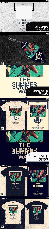 Summer T Shirt Graphic Calligraphic Graphic Design Pinterest