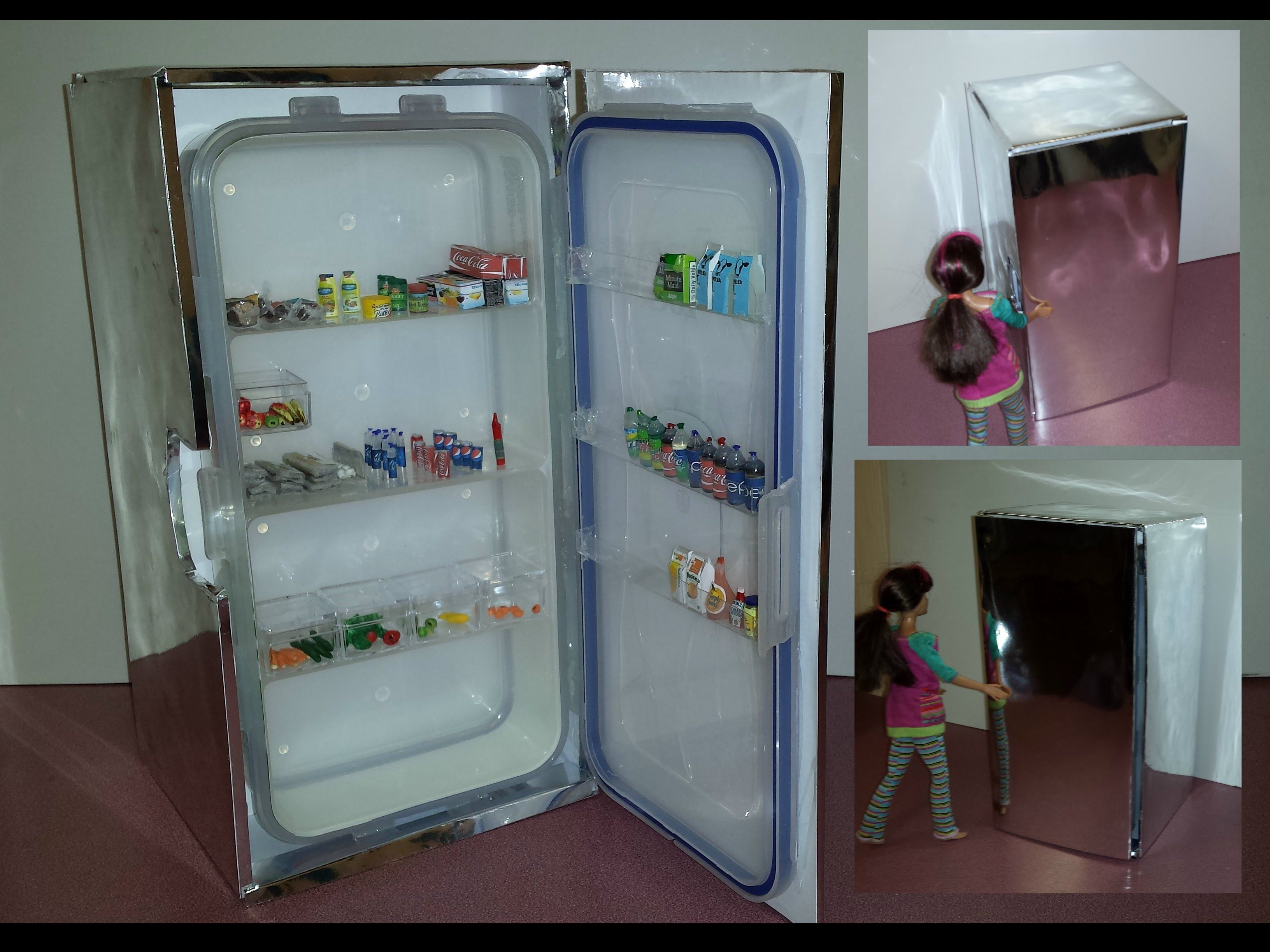 How to make a Barbie Fridge | doll house | Pinterest | Barbie house ...