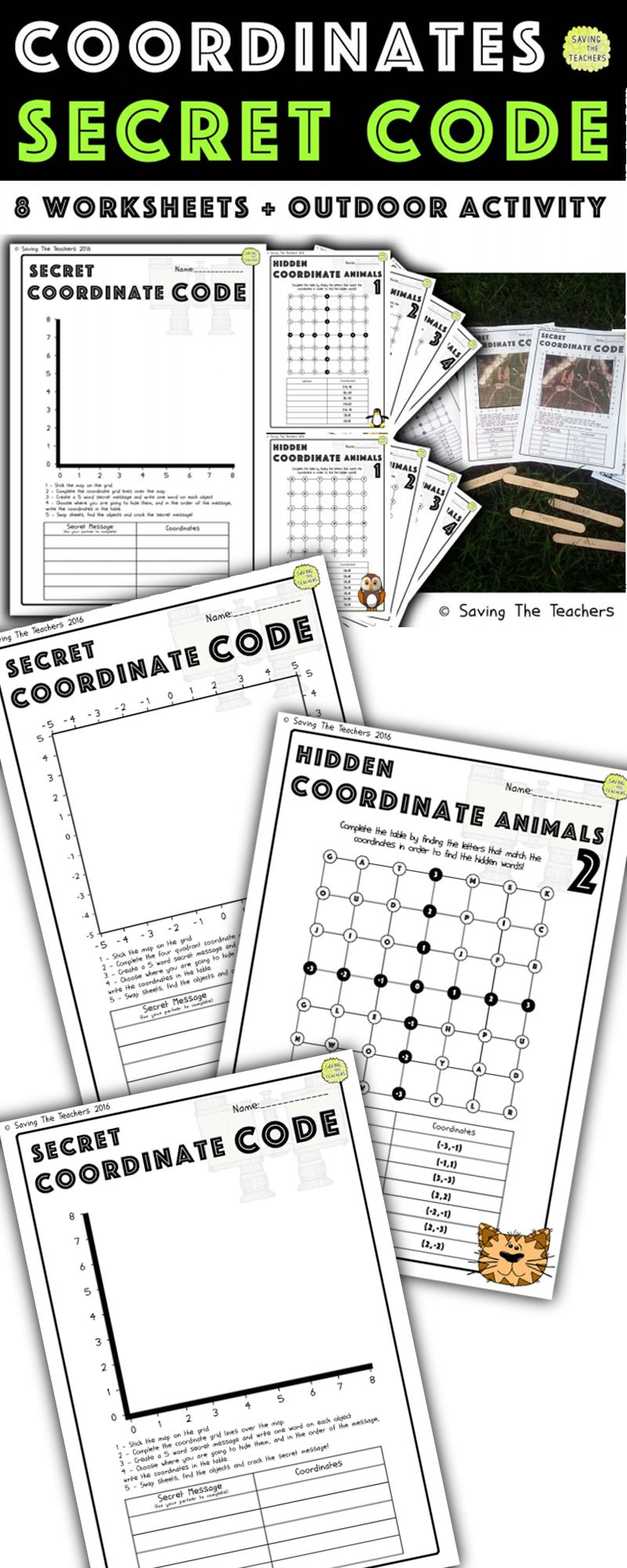 Outdoor Coordinates Activity And Worksheets The Children Will Love Running Around Using Coordinate Fun Math Activities Homeschool Programs Math Games For Kids [ 2000 x 800 Pixel ]