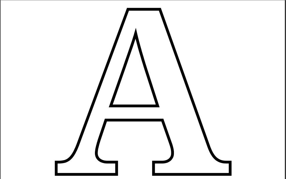 The Letter A Coloring Pages