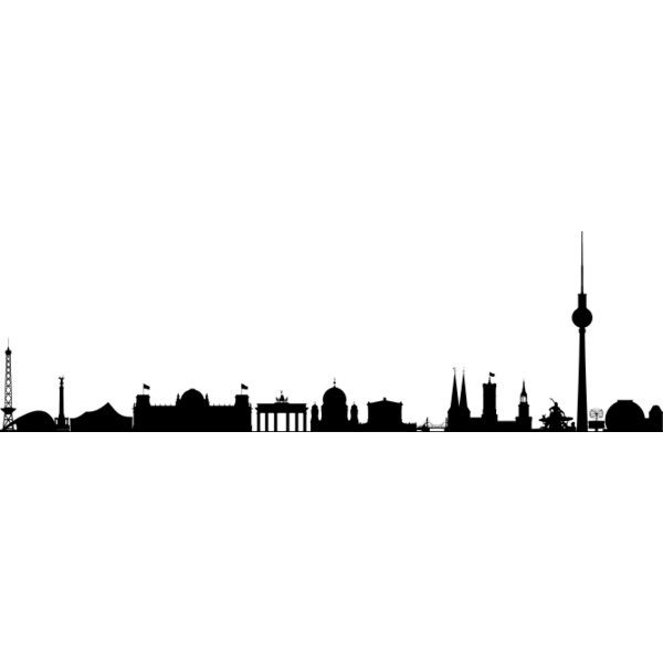 Berlin Skyline Silhouette Liked On Polyvore Featuring Backgrounds Filler City Embellish Diy Decoracion Habitacion Europa Decoracion De Unas