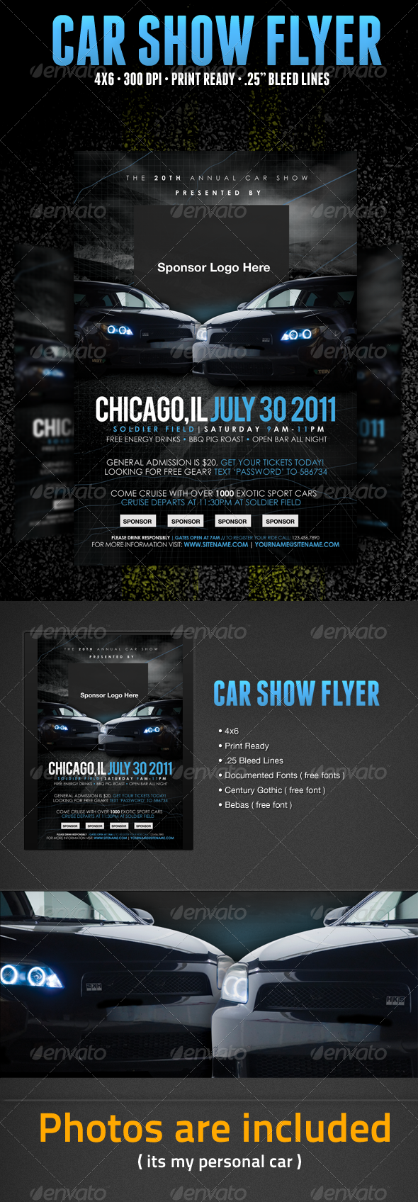 Car Show Flyer Template  Flyer Template Template And Cars