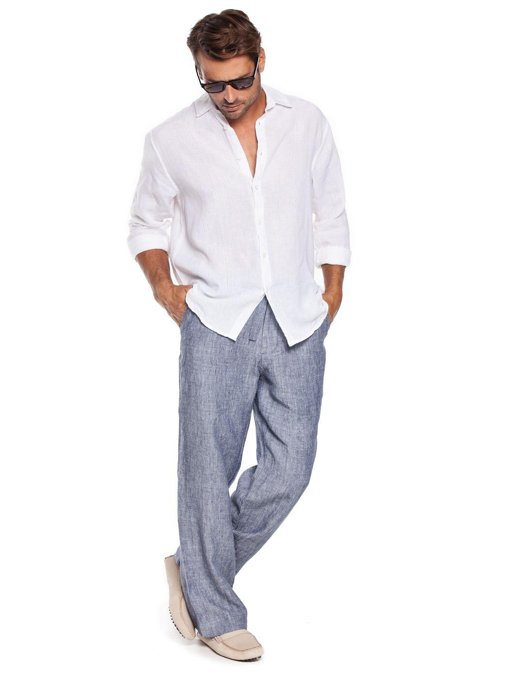 bb74548b76 Grey Men's linen pants | Fashion in 2019 | Beach pants, Linen beach ...