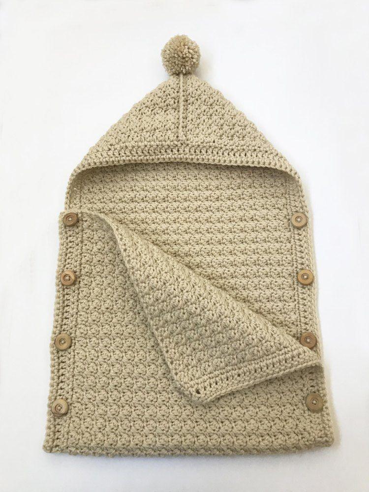Easy Baby Sleeping Bag Crochet pattern by Deborah O'Leary #crochetprojects