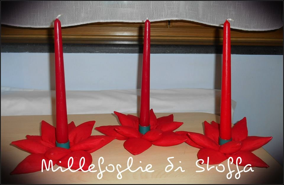 Porta candele in stoffa