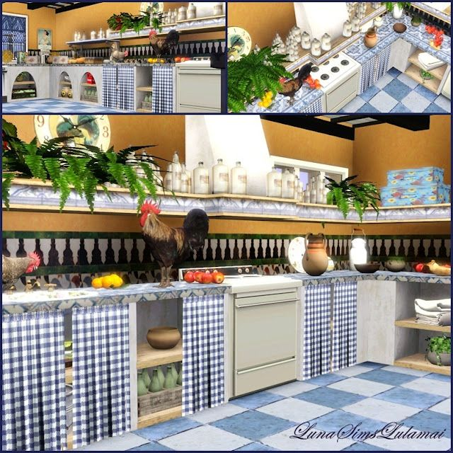 Santorini Kitchen By Luna Sims.