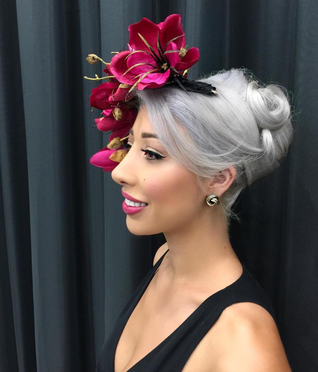 Pink Flower Crown Millinery Market In 2021 Fascinator Hairstyles Wedding Guest Hairstyles Hair Styles