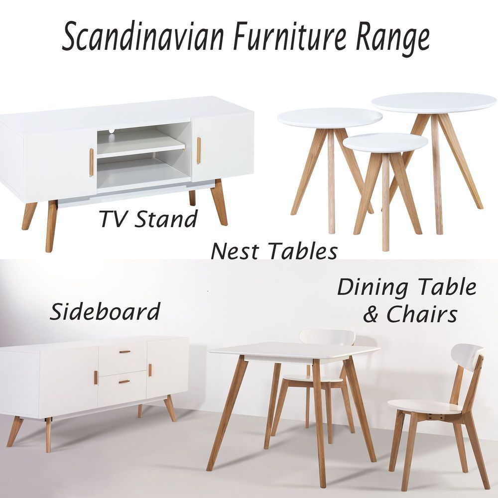 Details About Scandinavian Retro Oak Furniture Tv Stand