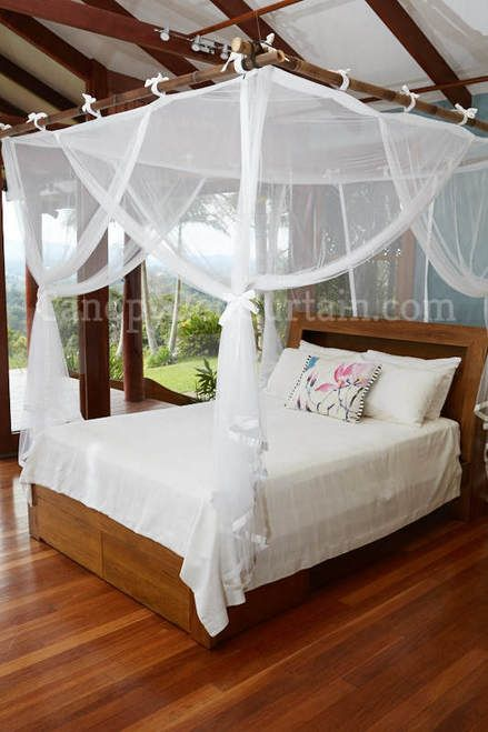 Canopy Bed Curtain. Queen. in 2020 | Canopy bed curtains, Bed