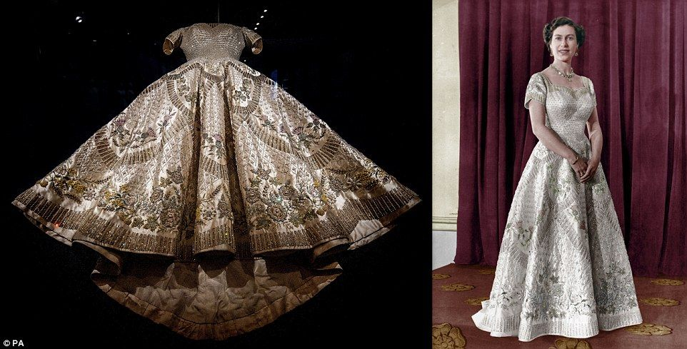 The Coronation Dress Of Queen Elizabeth Ii Designed By Norman Hartnell In 1953 Which Took Eight Months To Design And Create