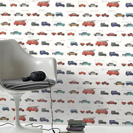 Kinderbehang Met Autos.Be You Papierbehang Auto S Multicolor Wallpaper Kids Bedroom