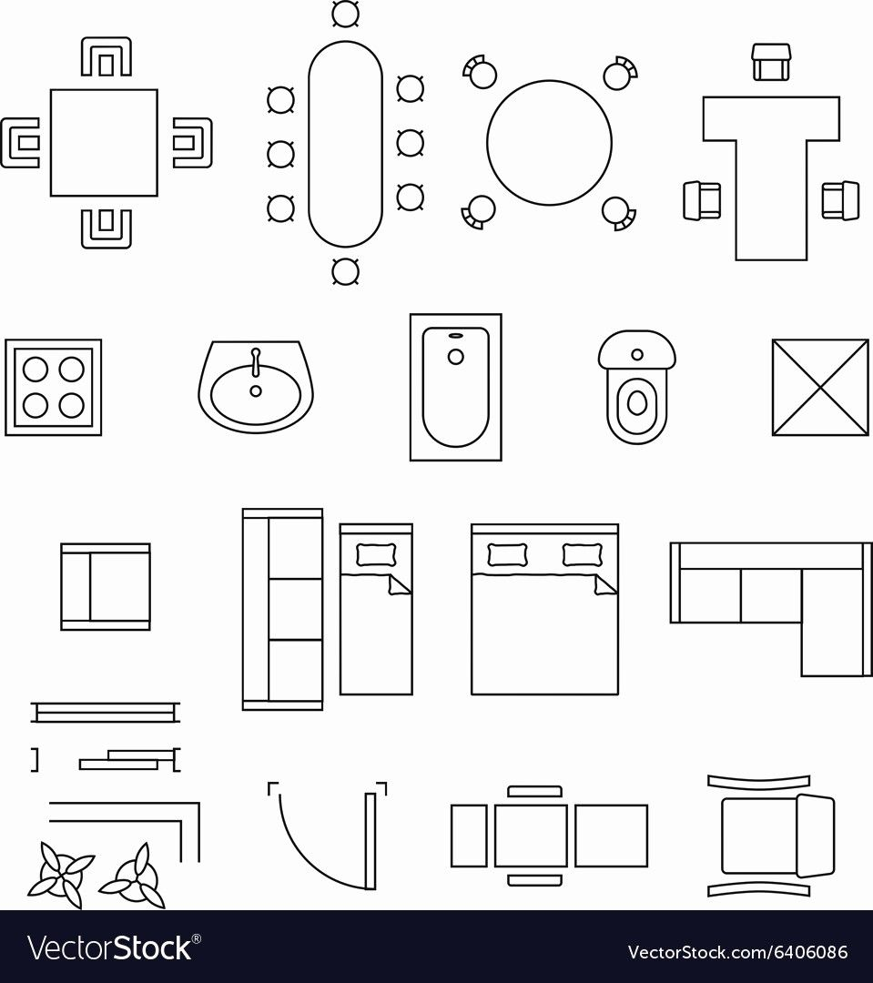Floor Plan Furniture Symbols Pdf Floor Plan Symbols Floor Plan Drawing How To Plan