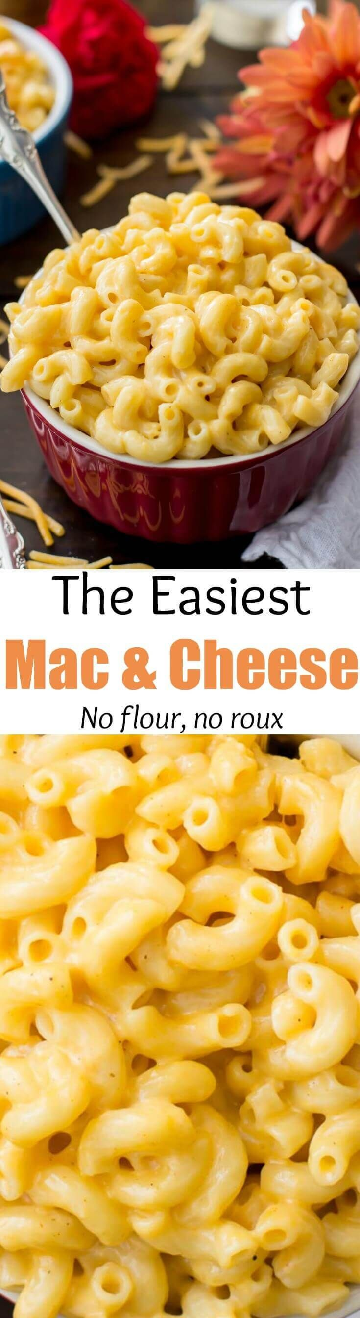 Easy macaroni and cheese made without flour or roux