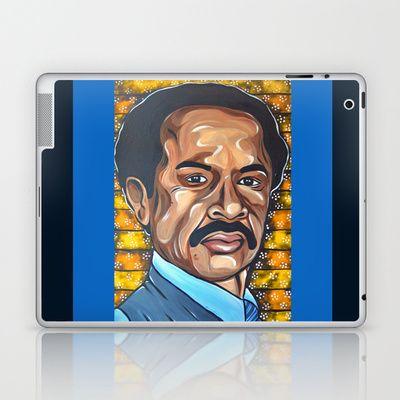 George Jefferson Laptop & iPad Skin by Portraits on the Periphery   - $25.00