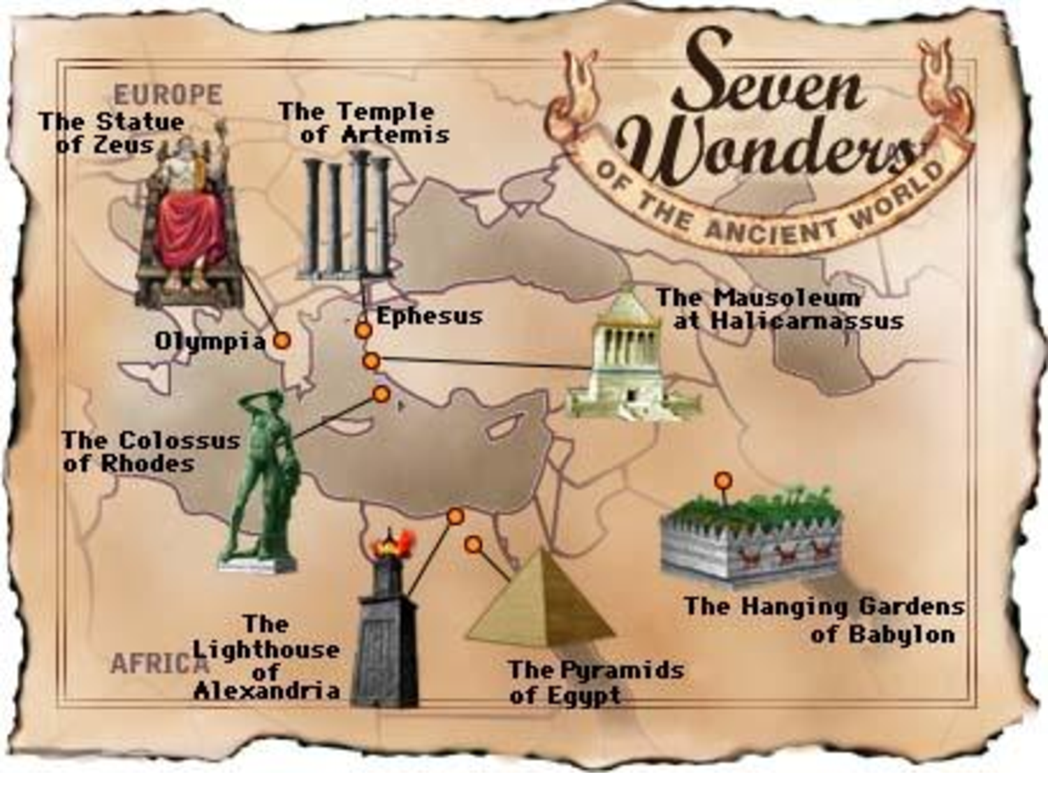 Old 7 Wonders of the World Seven ancient wonders Places that I