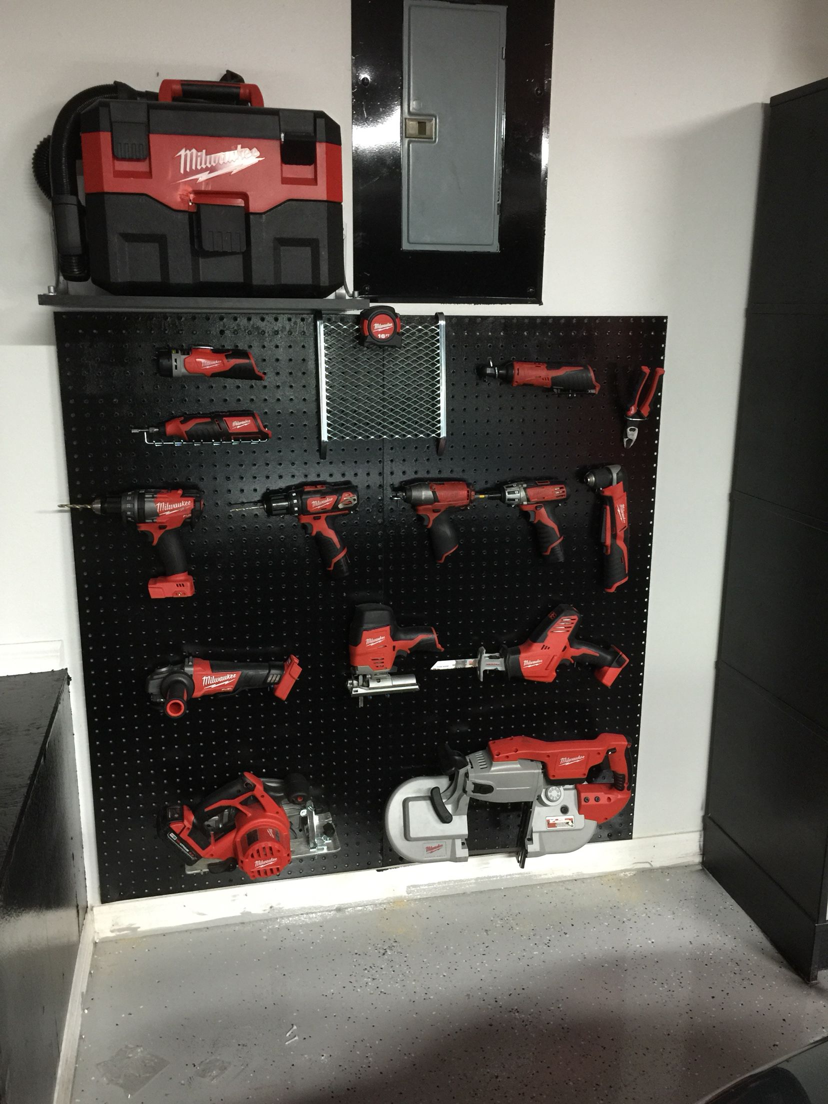 Cordless tool storage and rack another pic of the milwaukee tool another pic of the milwaukee tool rack not quite finished solutioingenieria Gallery