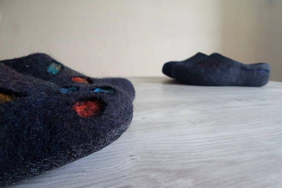Wedding Gifts for Couple His and Her Felted house slippers