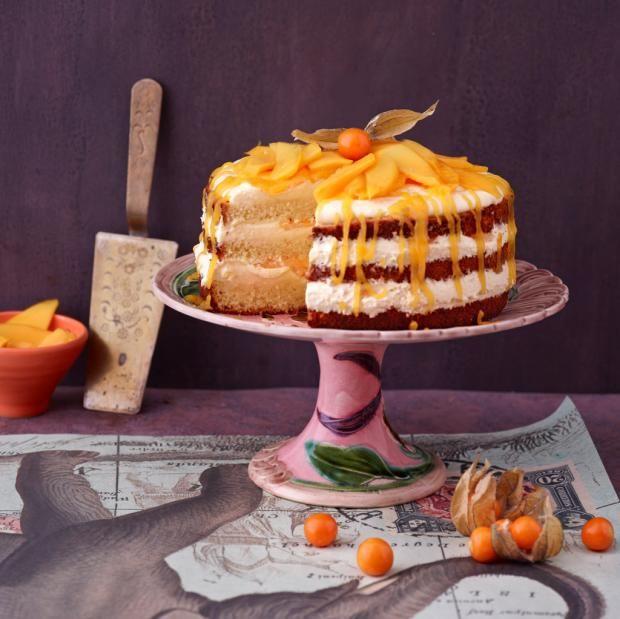 Maracuja Mango Torte Rezept Rezept Torten Rezepte Essen Und Trinken Kuchen Und Torten