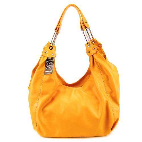 4b1171a6fb Bag ·  449.00 Cosette Italian Made Orange Leather Designer Hobo ...