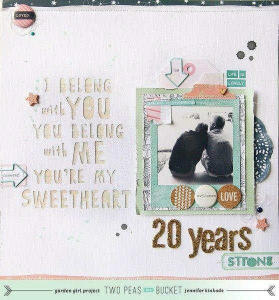 "Scrapbooking an anniversary: ""20 years strong"" by @Jennifer Milsaps L Milsaps L Milsaps L Kinkade"