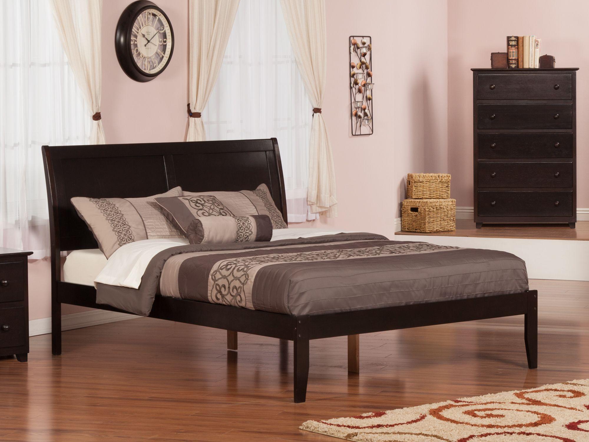 Portland Platform Bed King Platform Bed Atlantic Furniture